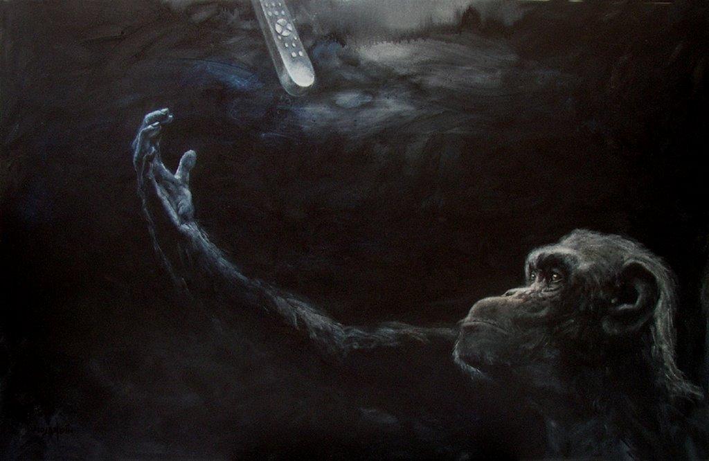 """""""Retrato 13"""". 2003. Óleo / lienzo ( 130 x 200 )"""