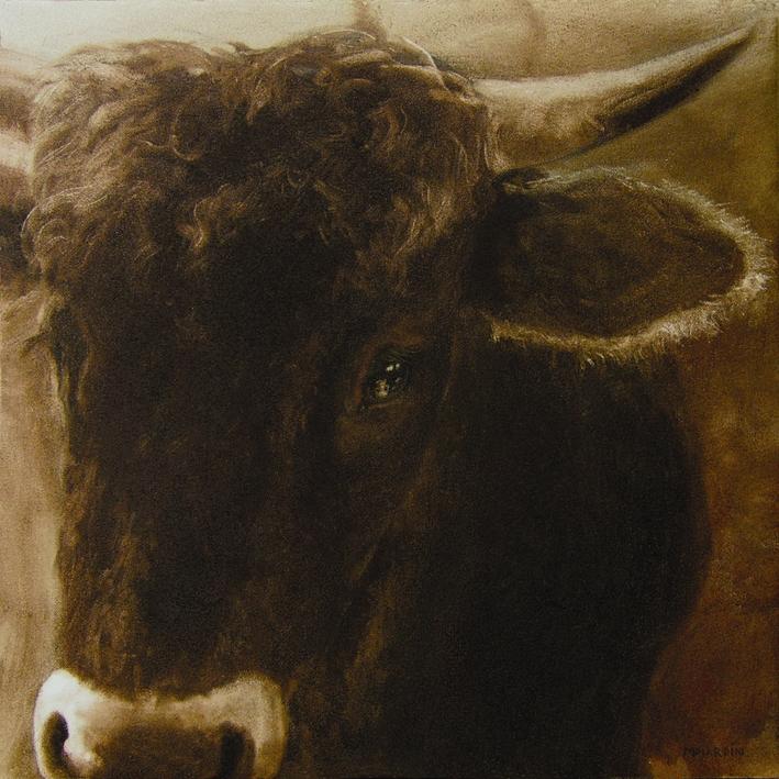 """""""La Parda ( en El Prado )"""". 2005. Óleo / lenzo ( 60 x 60 )"""