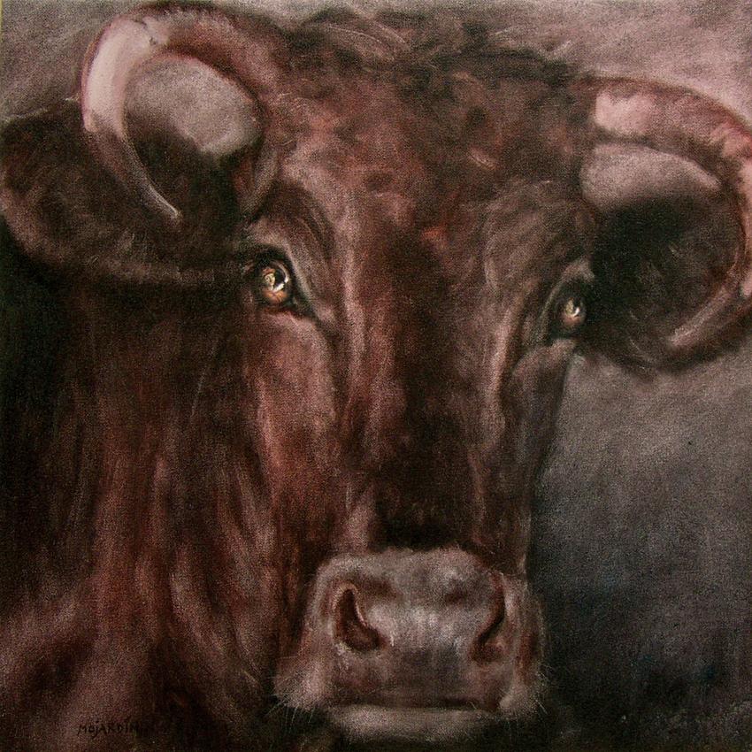"""""""La Pastora ( en El Prado )"""". 2005. Óleo / lenzo ( 60 x 60"""
