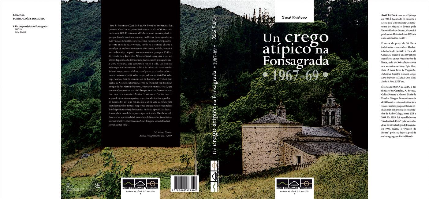 """Capa e contracapa do libro """"Un crego atípico na Fonsagrada"""", publicado polo Museo Comarcal da Fonsagrada"""