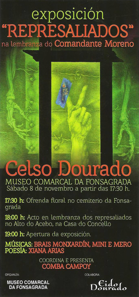 Cartel da exposición Represaliados no Museo da Fonsagrada