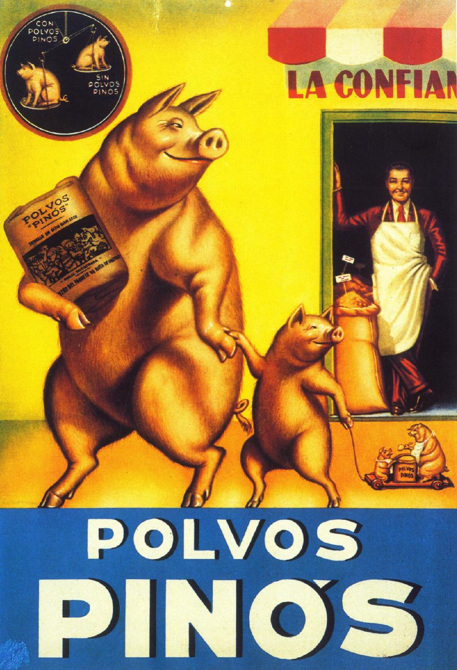 """Piensos """"Polvos Pinos"""". 1953. Girona"""